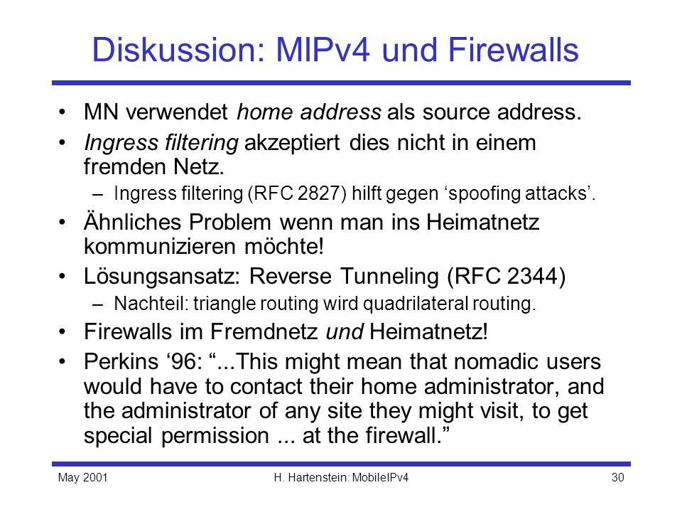 Diskussion: MIPv4 und Firewalls