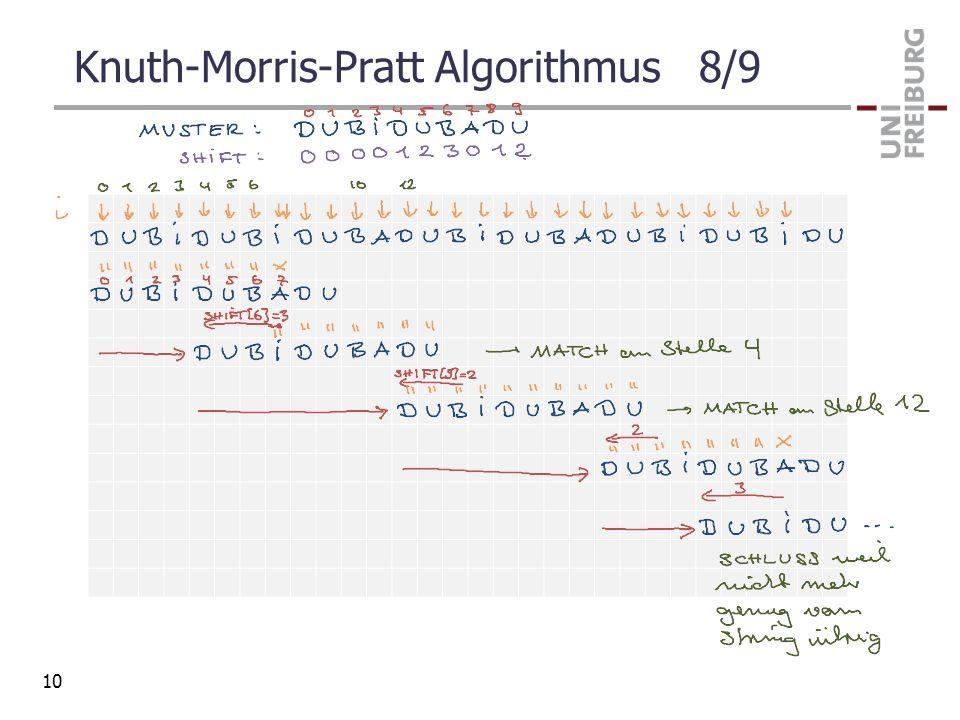Knuth-Morris-Pratt Algorithmus 8/9
