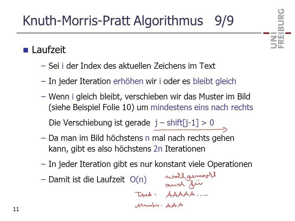 Knuth-Morris-Pratt Algorithmus 9/9