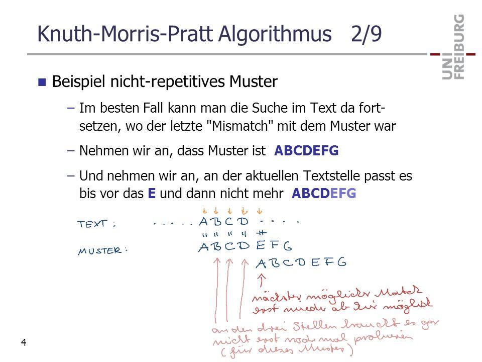 Knuth-Morris-Pratt Algorithmus 2/9