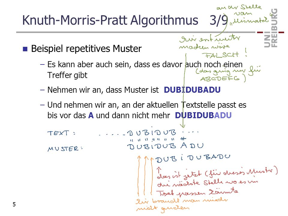 Knuth-Morris-Pratt Algorithmus 3/9