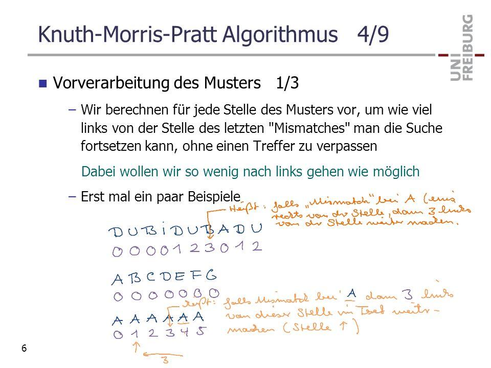 Knuth-Morris-Pratt Algorithmus 4/9