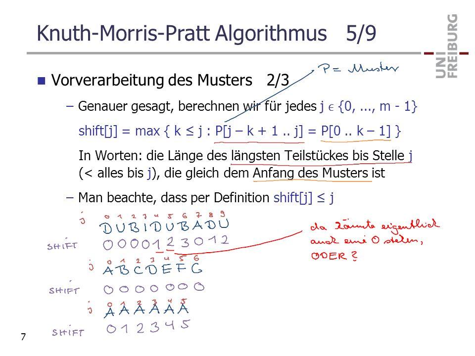 Knuth-Morris-Pratt Algorithmus 5/9
