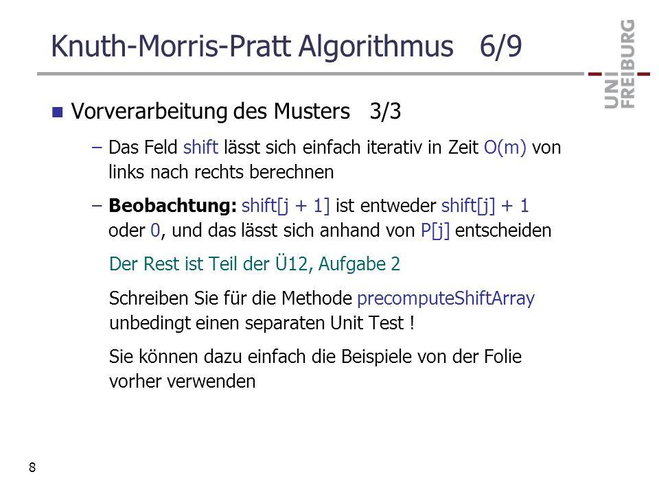 Knuth-Morris-Pratt Algorithmus 6/9