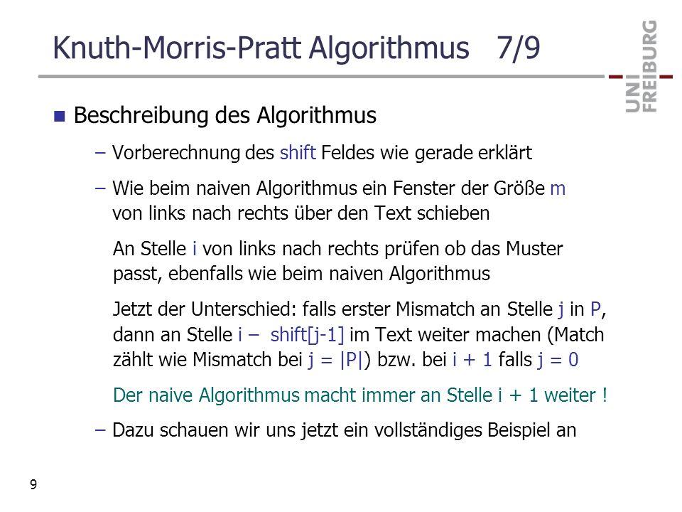 Knuth-Morris-Pratt Algorithmus 7/9