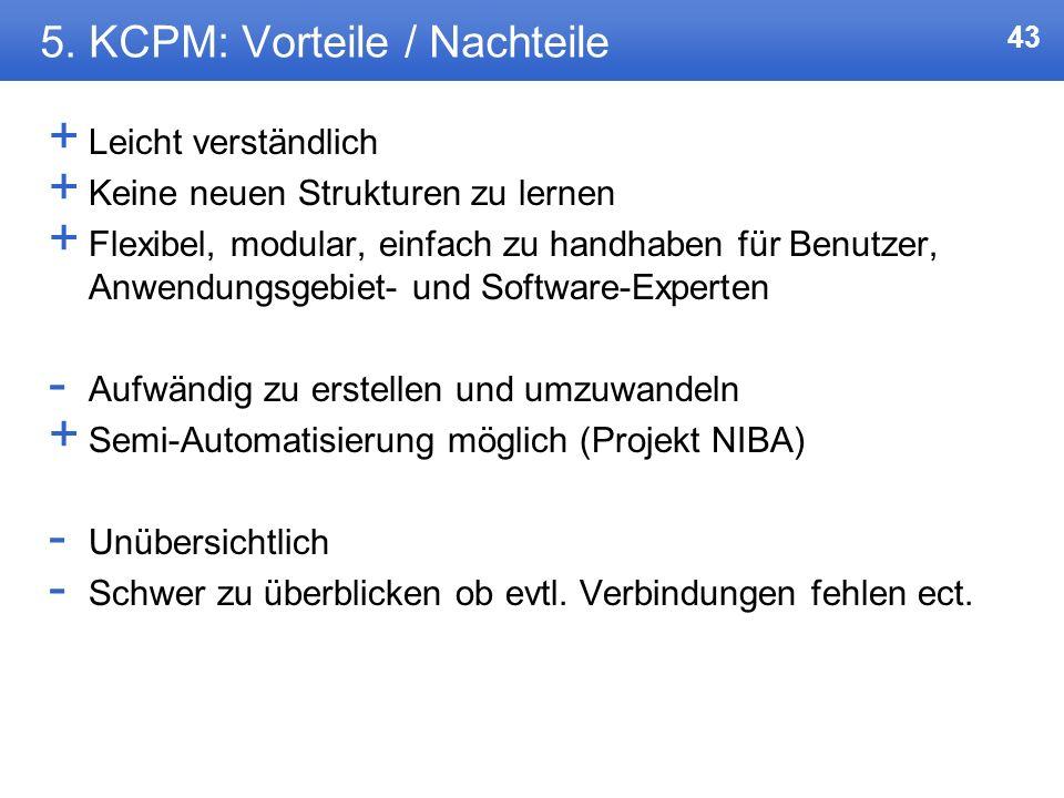 5. KCPM: Vorteile / Nachteile