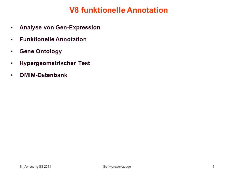 V8 funktionelle Annotation