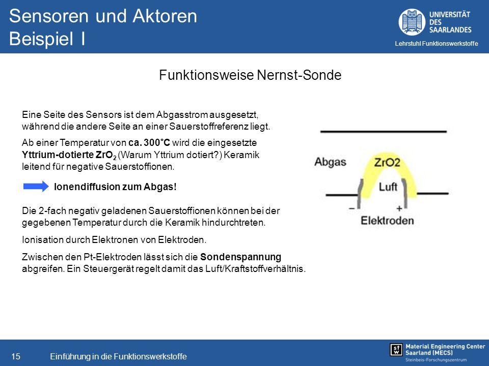 Sensoren und Aktoren Beispiel I