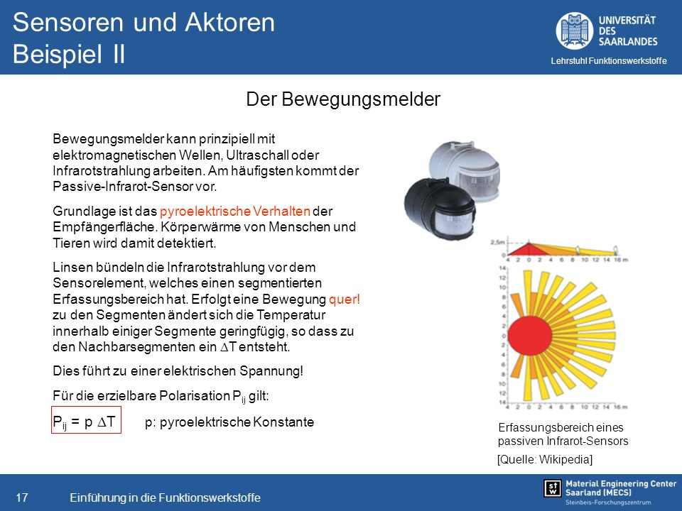 Sensoren und Aktoren Beispiel II