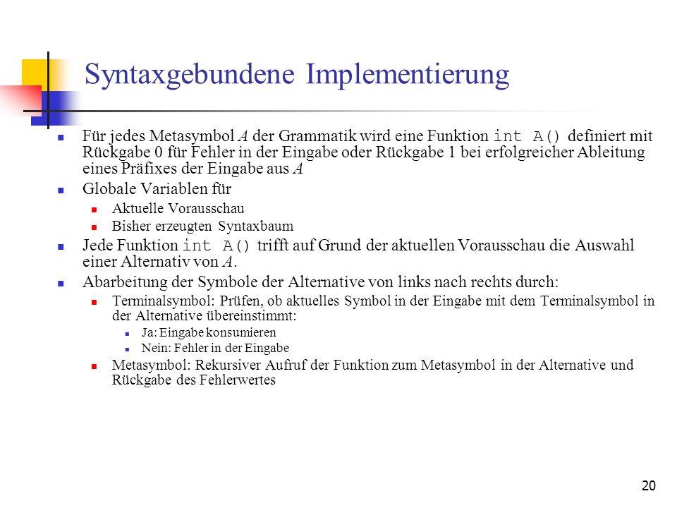 Syntaxgebundene Implementierung