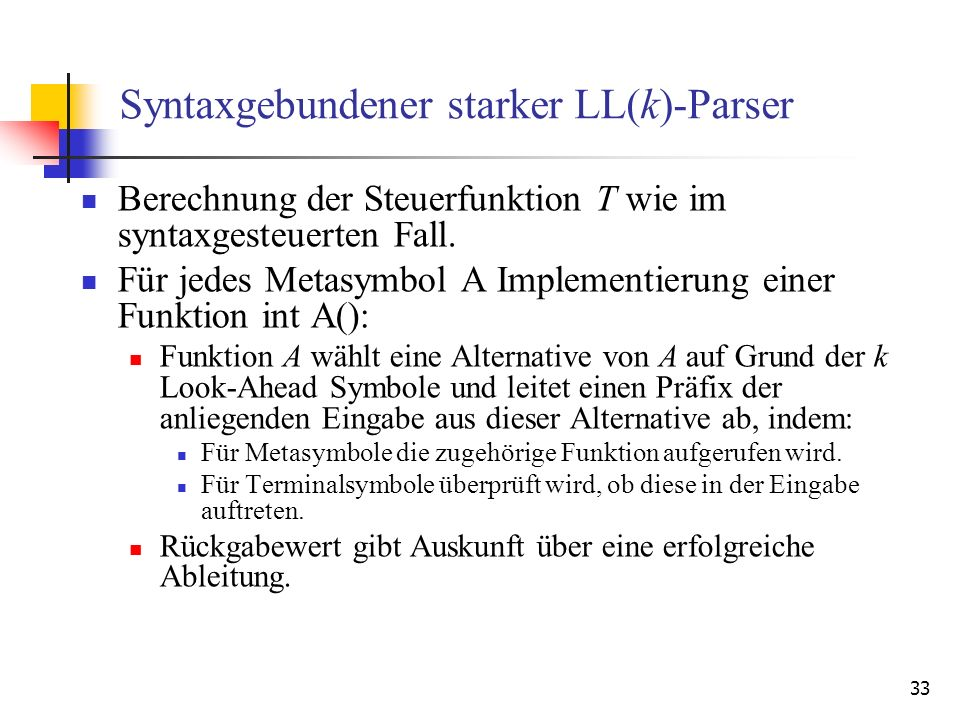 Syntaxgebundener starker LL(k)-Parser