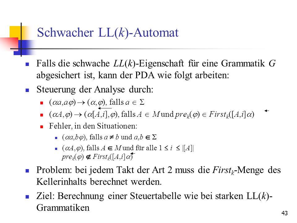 Schwacher LL(k)-Automat