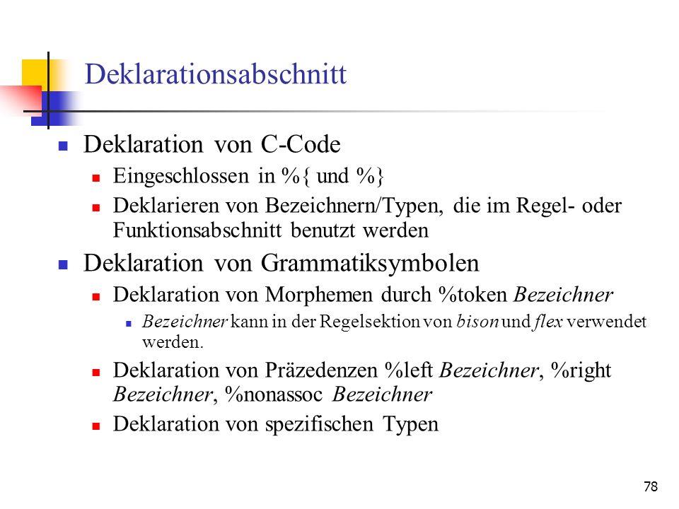 Deklarationsabschnitt