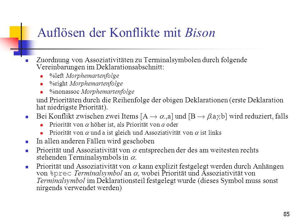 Auflösen der Konflikte mit Bison