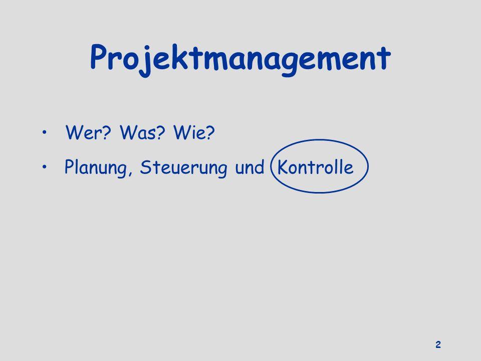Projektmanagement Wer Was Wie Planung, Steuerung und Kontrolle 2