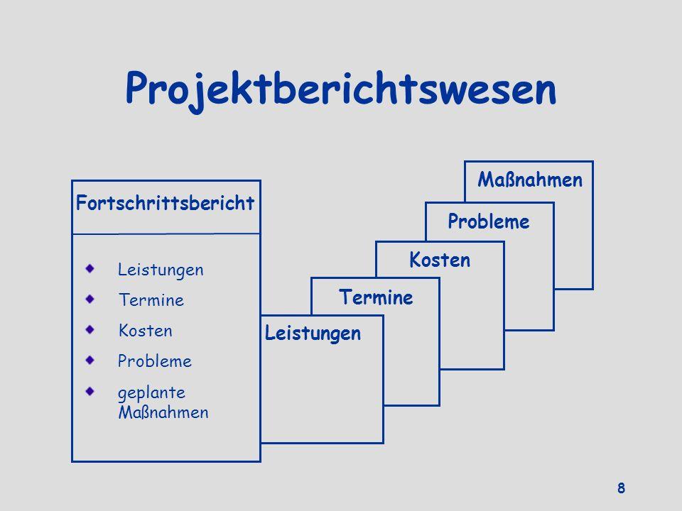 Projektberichtswesen
