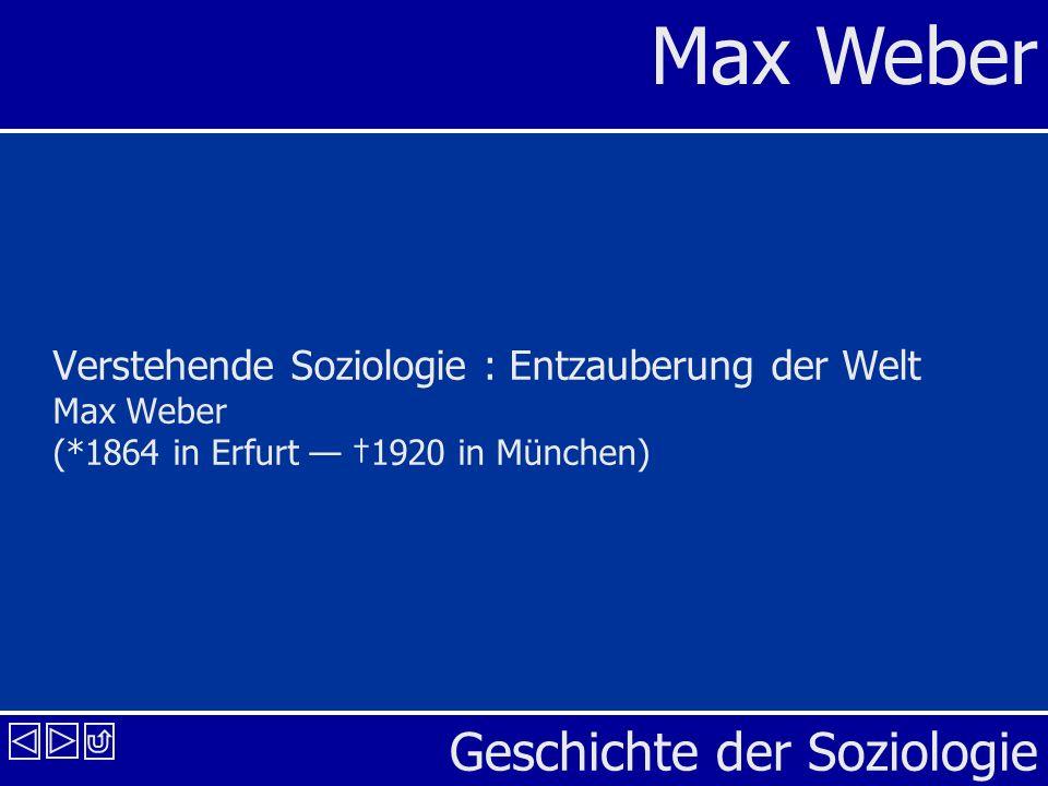 Verstehende Soziologie : Entzauberung der Welt Max Weber (