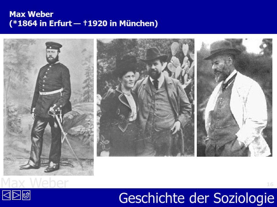 Max Weber (*1864 in Erfurt — †1920 in München)
