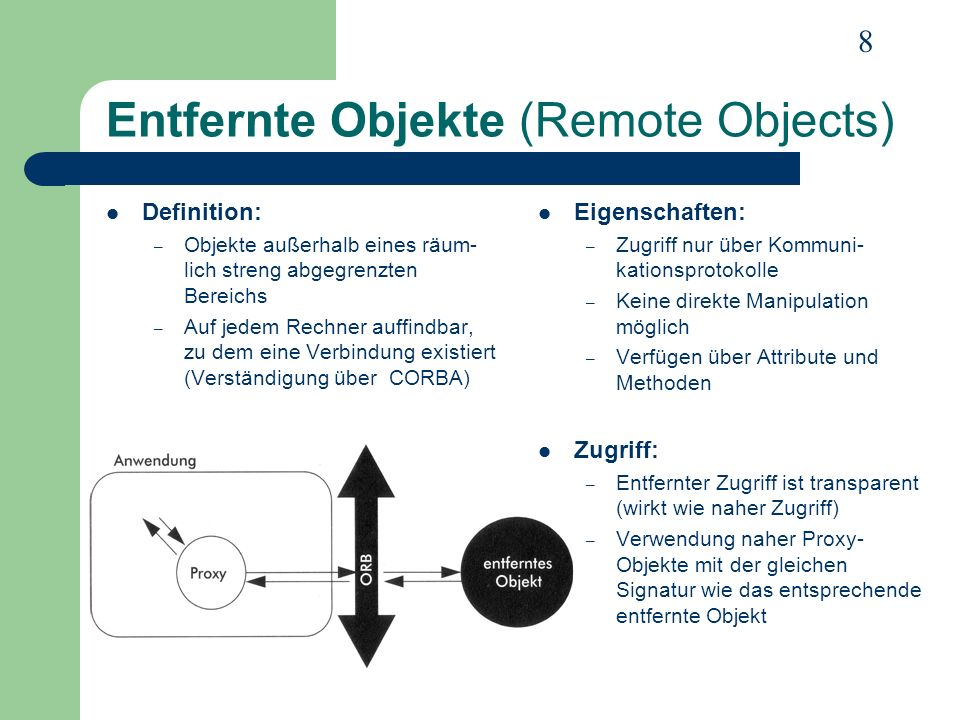 Entfernte Objekte (Remote Objects)