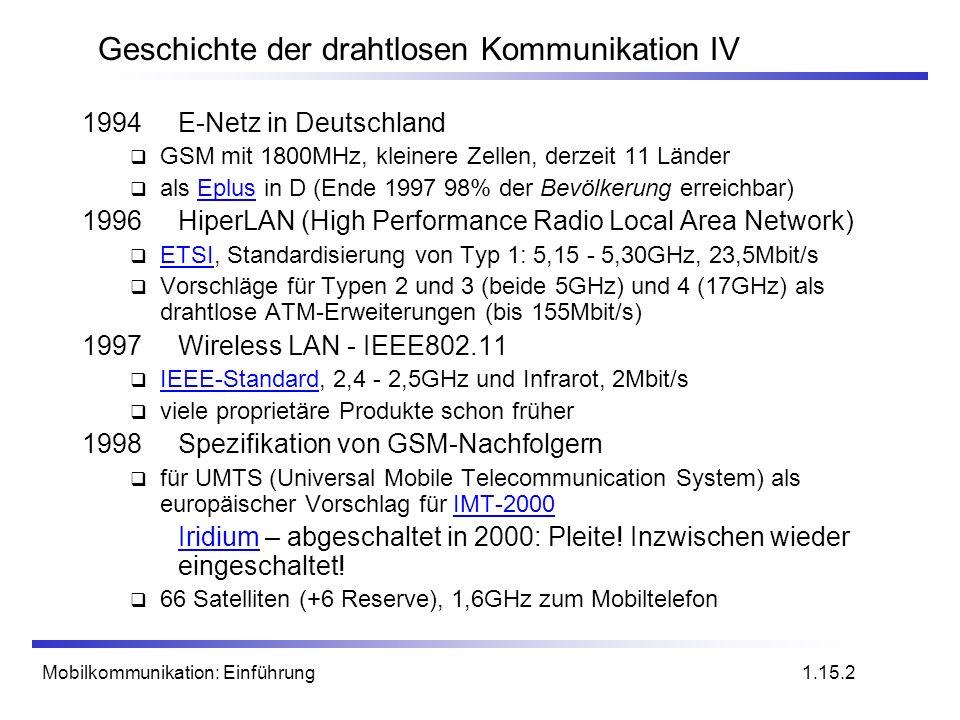 Geschichte der drahtlosen Kommunikation IV