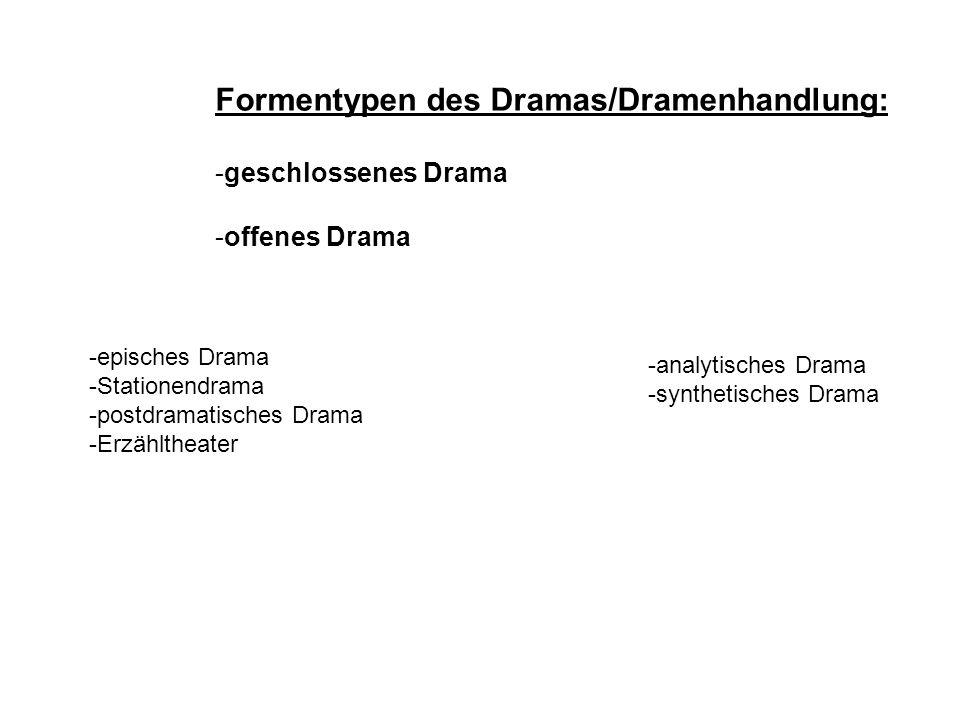 Formentypen des Dramas/Dramenhandlung: