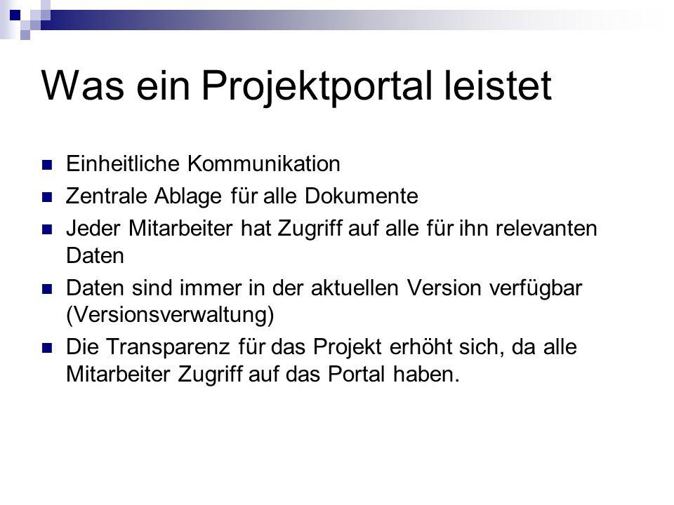 Was ein Projektportal leistet