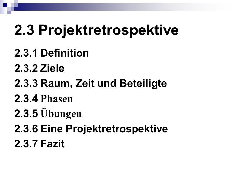 2.3 Projektretrospektive