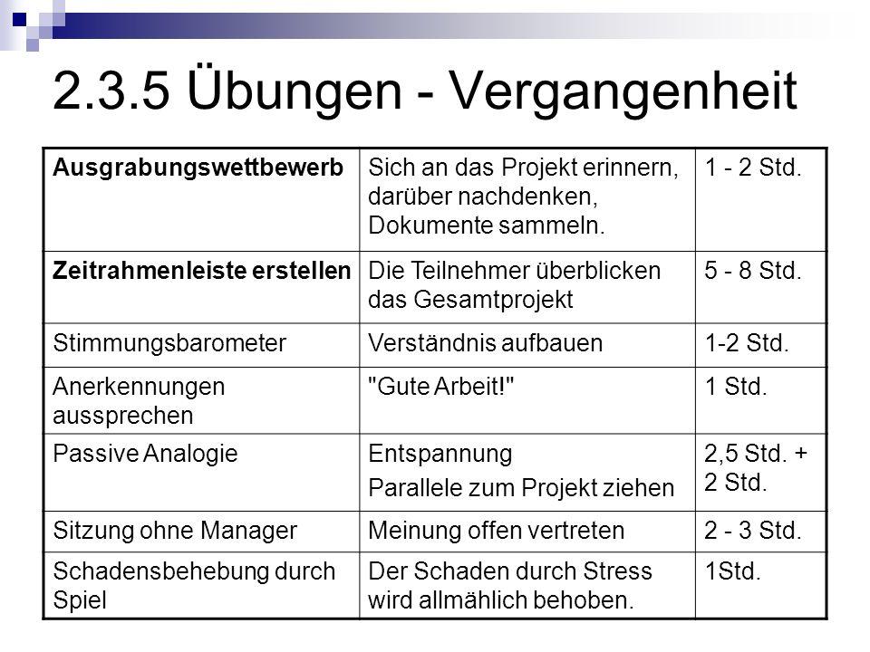 2.3.5 Übungen - Vergangenheit