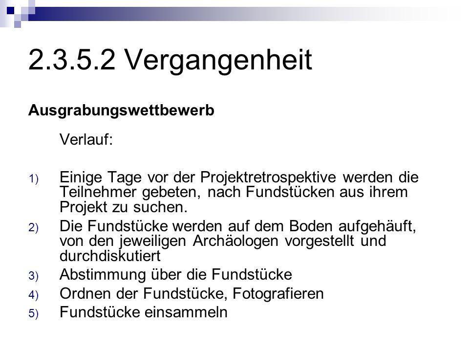 2.3.5.2 Vergangenheit Ausgrabungswettbewerb