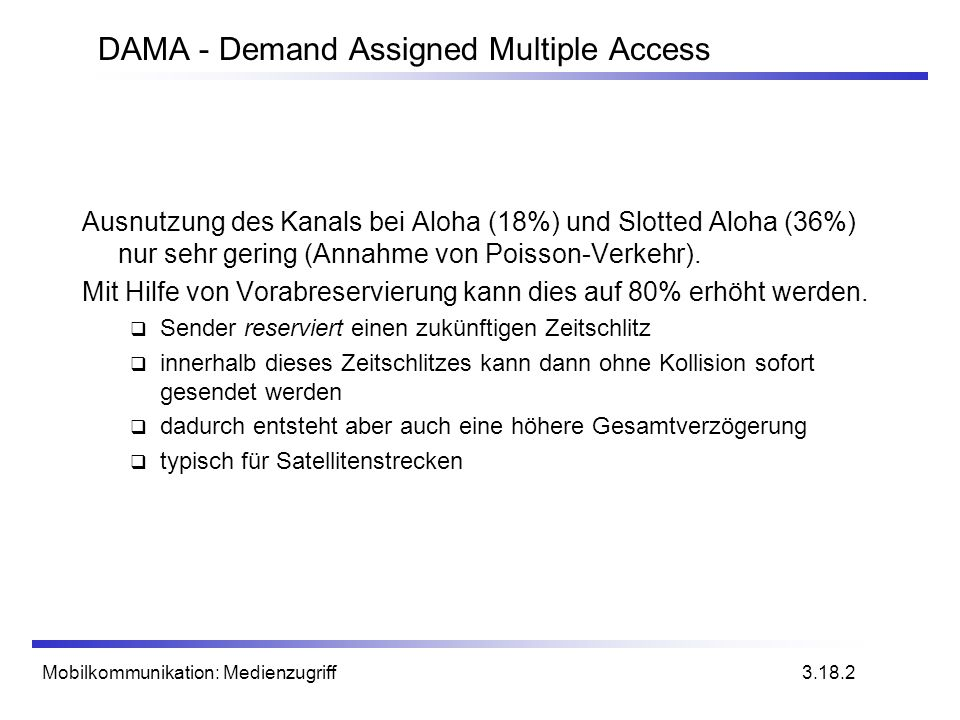 DAMA - Demand Assigned Multiple Access