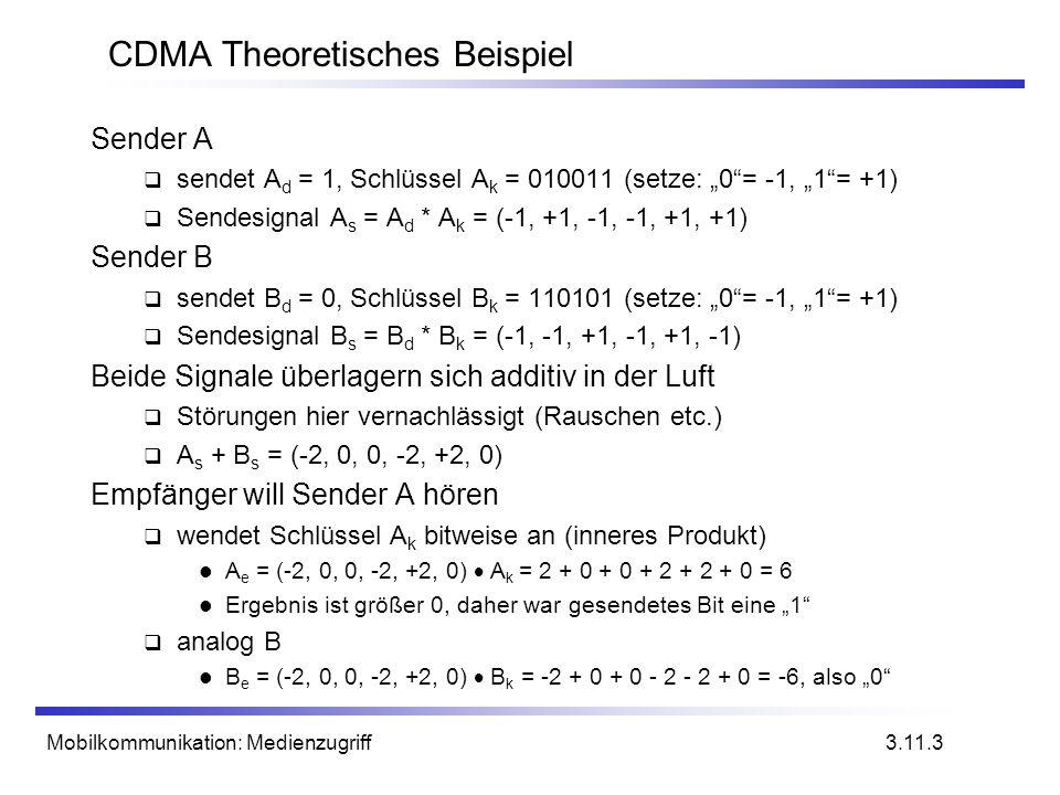 CDMA Theoretisches Beispiel