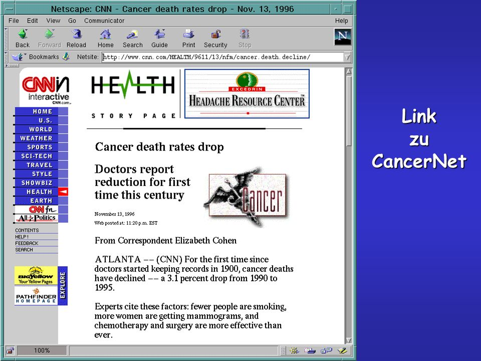 Link zu CancerNet