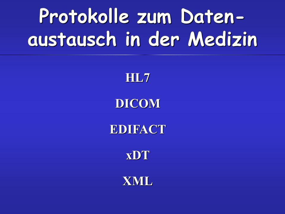 Protokolle zum Daten-austausch in der Medizin