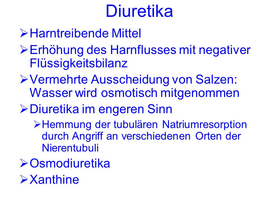 Diuretika Harntreibende Mittel - ppt video online herunterladen