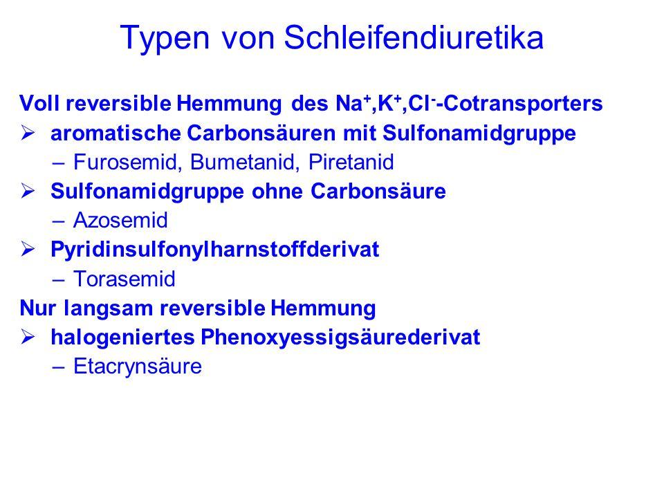 Typen von Schleifendiuretika