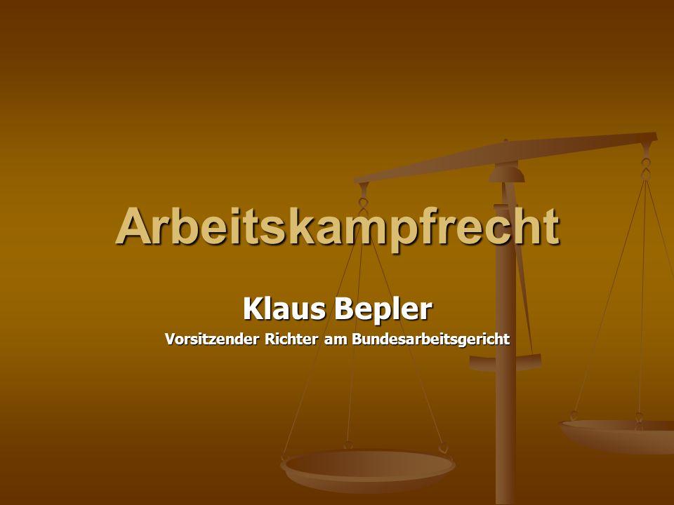 Klaus Bepler Vorsitzender Richter am Bundesarbeitsgericht