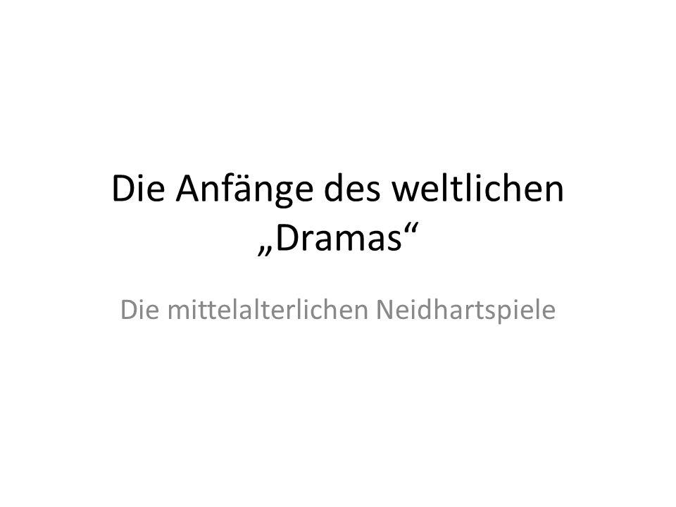 """Die Anfänge des weltlichen """"Dramas"""