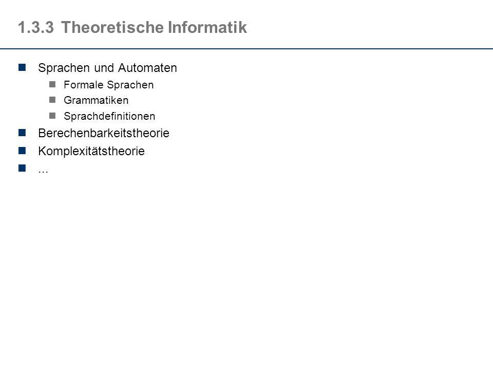 1.3.3 Theoretische Informatik