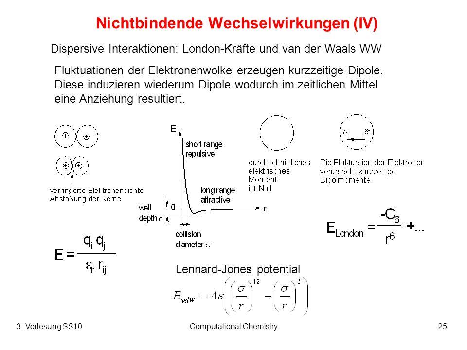 Nichtbindende Wechselwirkungen (IV)