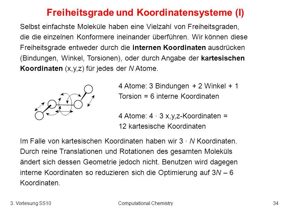 Freiheitsgrade und Koordinatensysteme (I)