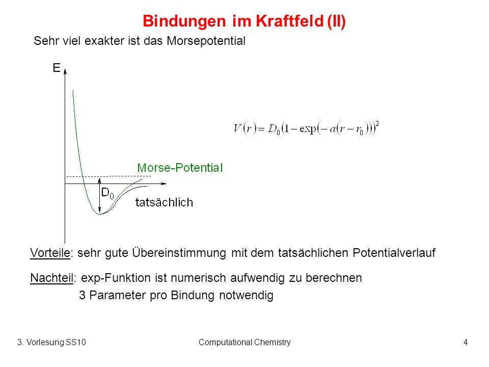 Bindungen im Kraftfeld (II)