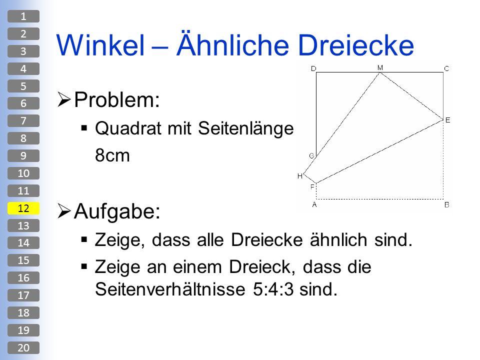 Winkel – Ähnliche Dreiecke