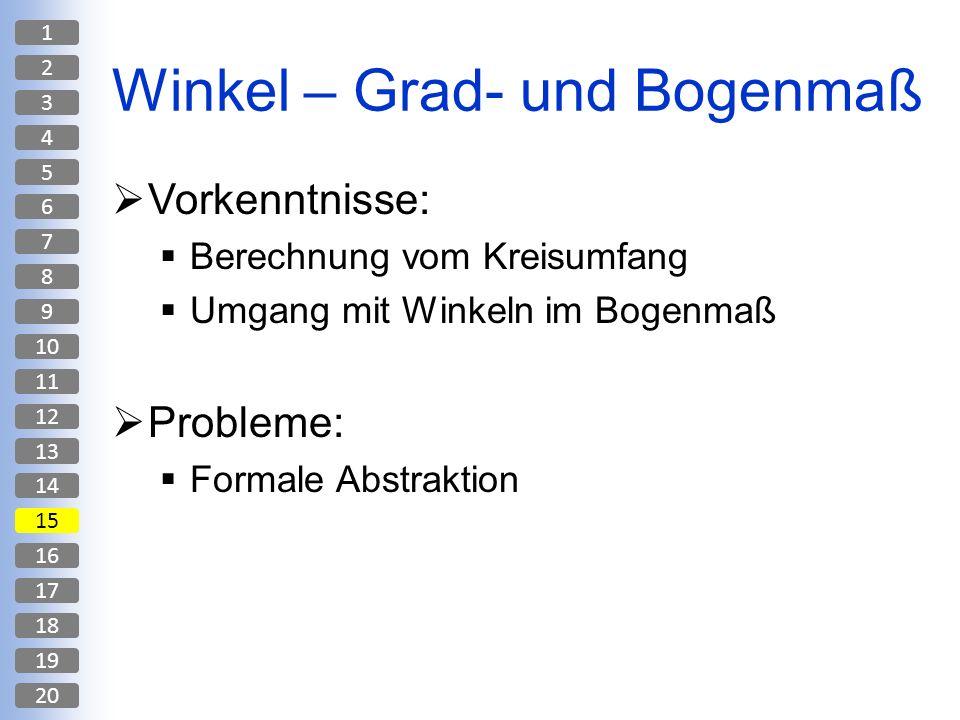 Winkel – Grad- und Bogenmaß