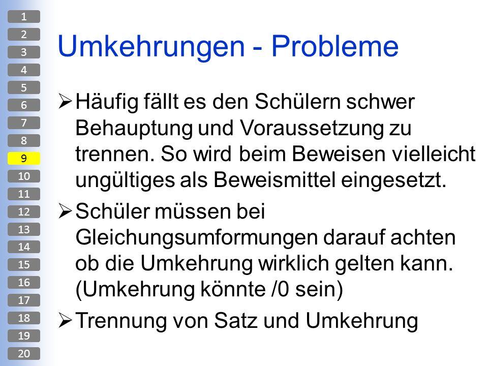 Umkehrungen - Probleme