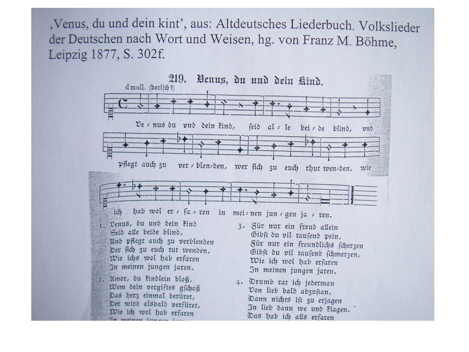 J. Regnart, Tenorlied 'Venus, du und dein Kind', Melodie zu Ayrers singests Spil (Wuttke Nr. 20)