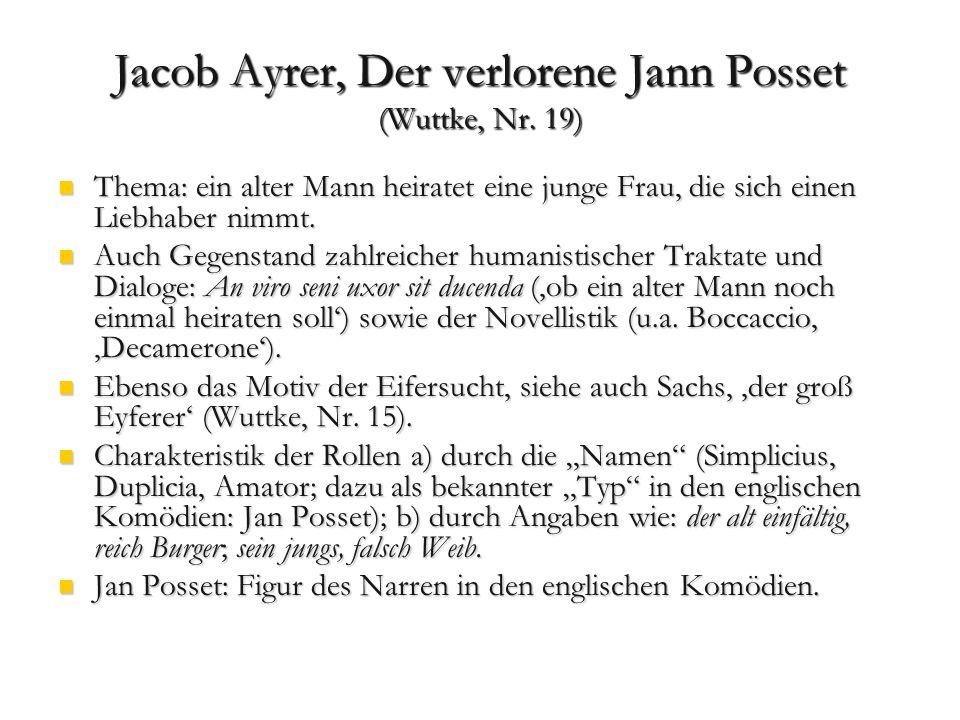Jacob Ayrer, Der verlorene Jann Posset (Wuttke, Nr. 19)
