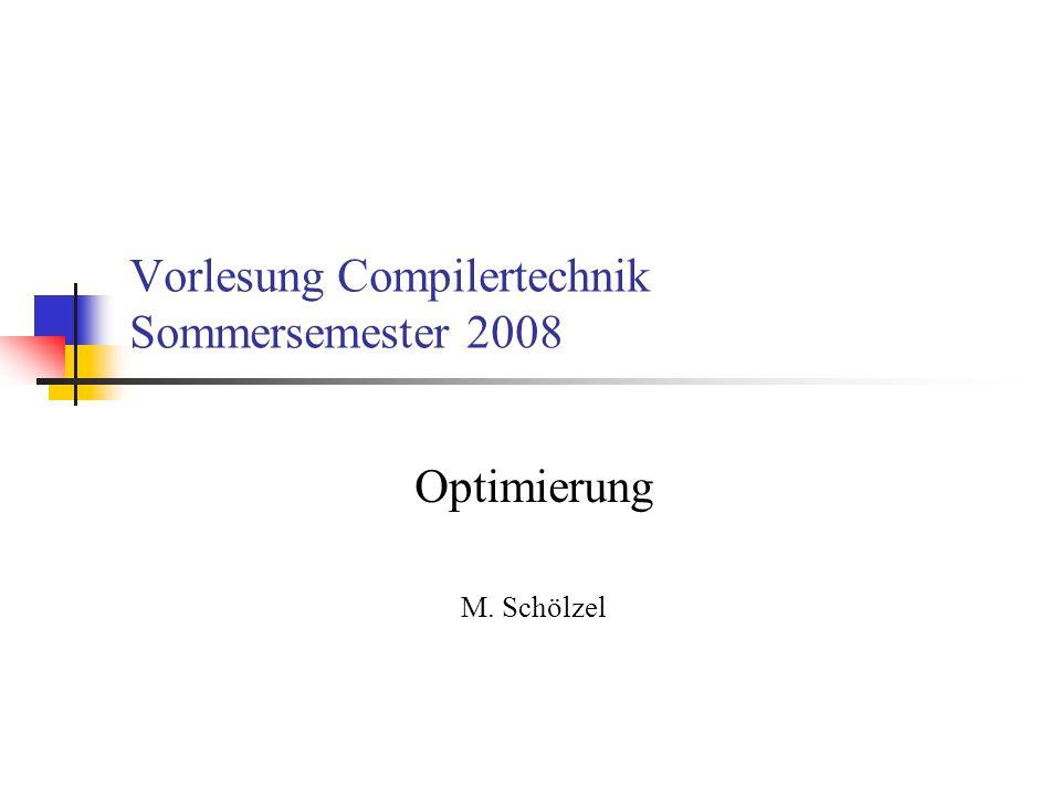 Vorlesung Compilertechnik Sommersemester 2008