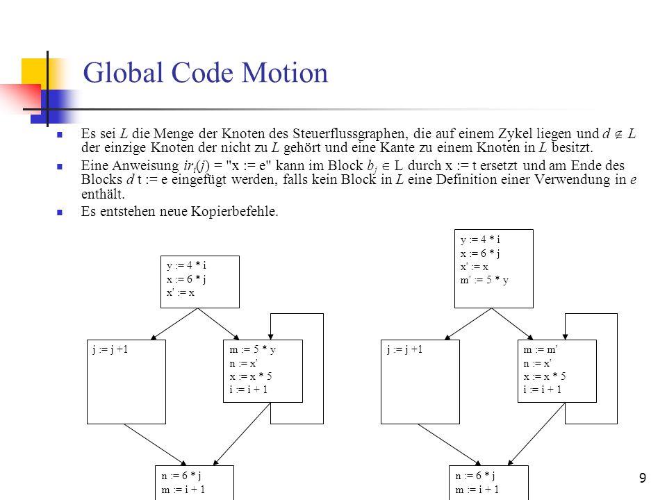 Global Code Motion