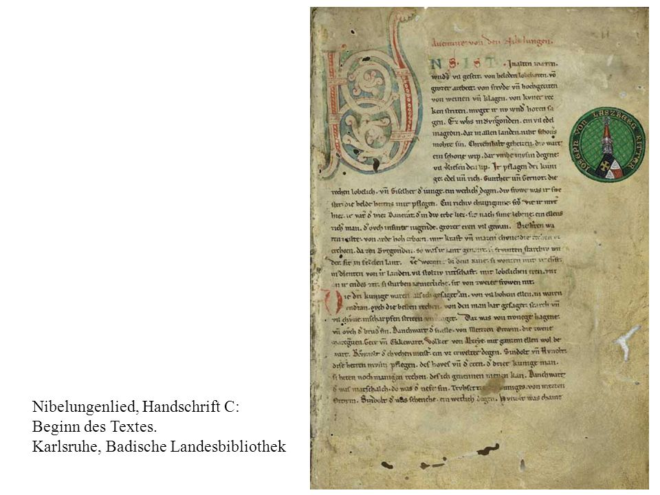 Nibelungenlied, Handschrift C:
