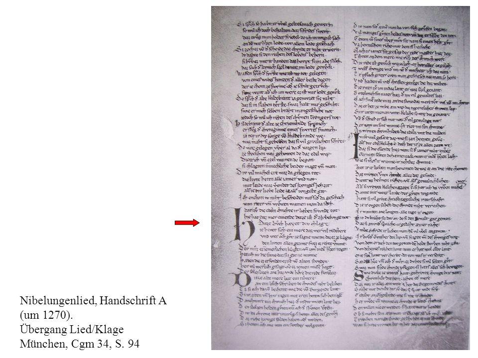 Nibelungenlied, Handschrift A